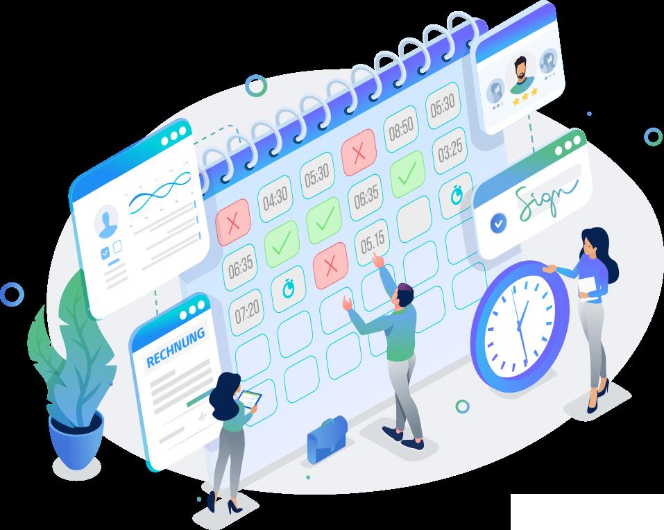 Zeitmanagement und Projekte Invoice Office