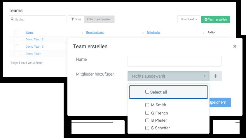 zeiterfassung team management