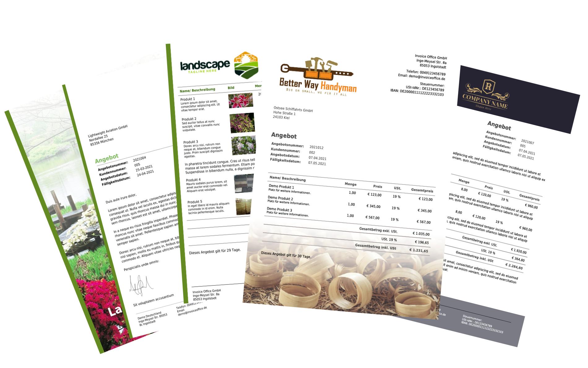 Beispiele für Angebote für kleine und mittlere Unternehmen (KMU)
