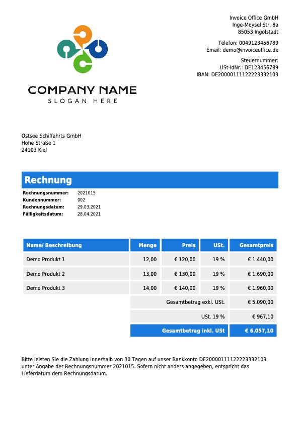 Rechnung Invoice Office GmbH (2021015)
